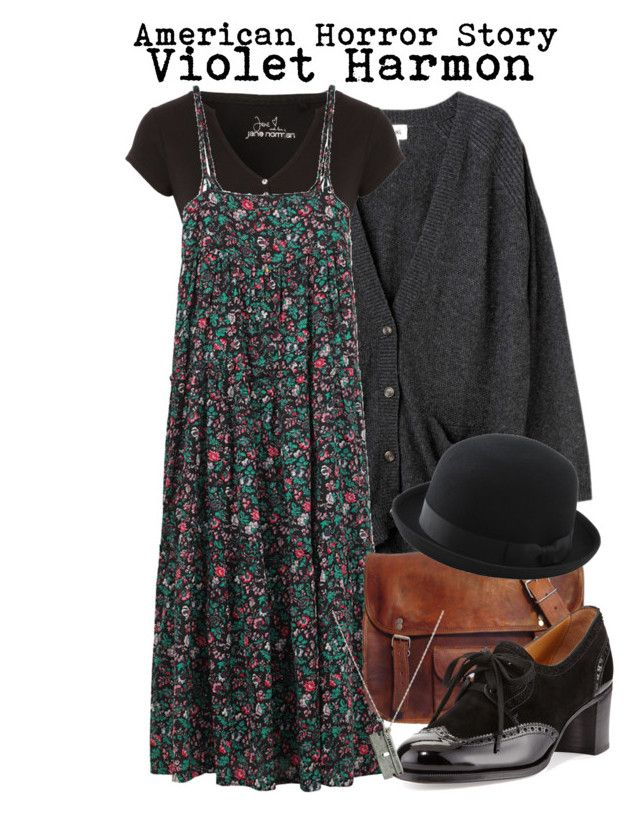 American Horror Story- Violet Harmon by darcy-watson on Polyvore featuring A.P.C. Madras, Monki, Jane Norman, Gravati, Uniqlo, women's clothing, women's fashion, women, female and woman