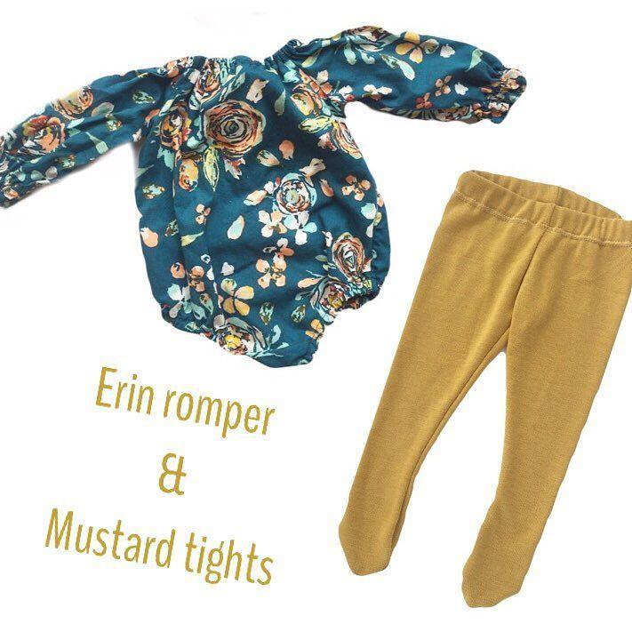 Baby tights, mustard tights
