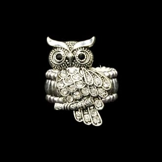 Owl Stretchy Ring  $9.98 Each, With Free Shipping   www.charmingcollectables.net