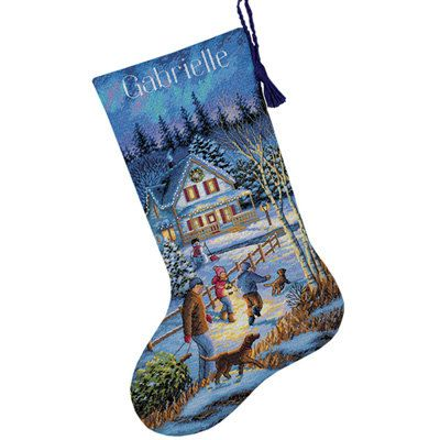 162 best Christmas Stockings images on Pinterest | Christmas cross ...
