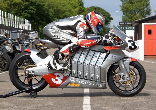 The MotoCzysz E1pc, the World's Most Advanced Electric Motorcycle.