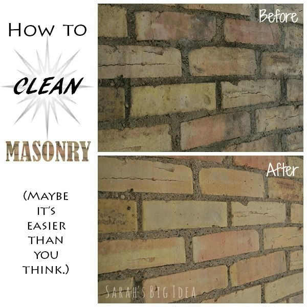 Cleaning Fireplace Brick With Vinegar Part - 42: How To Clean Masonry (http://www.sarahsbigidea.com/2014