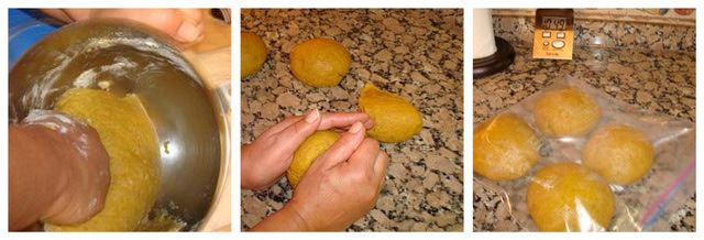 Photo tutorial showing the traditional preparation of Halwa Chebakia (mkharka), a popular Moroccan sesame and honey cookie.: Make the Chebakia Dough