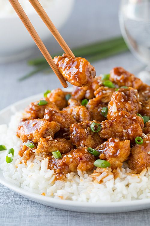 General Tso's Chicken Over Rice