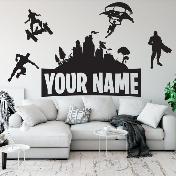 Are You Looking For An Excellent Idea For Your Child S Gaming Room Customize The Walls Of Your Children S Gaming R Wall Vinyl Decor Name Wall Decor Gamer Room