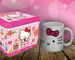 Caneca Hello Kitty com lata