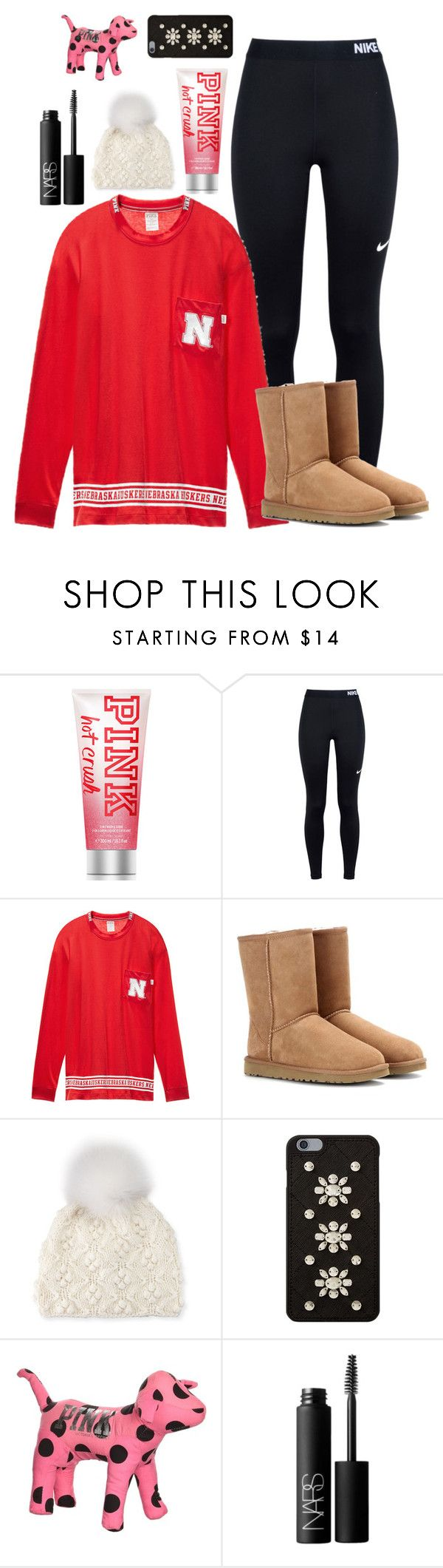 Yay!! NE Won Again in Volleyball by labures on Polyvore featuring Victorias Secret, NIKE, UGG Australia, Il Borgo, MICHAEL Michael Kors and NARS Cosmetics