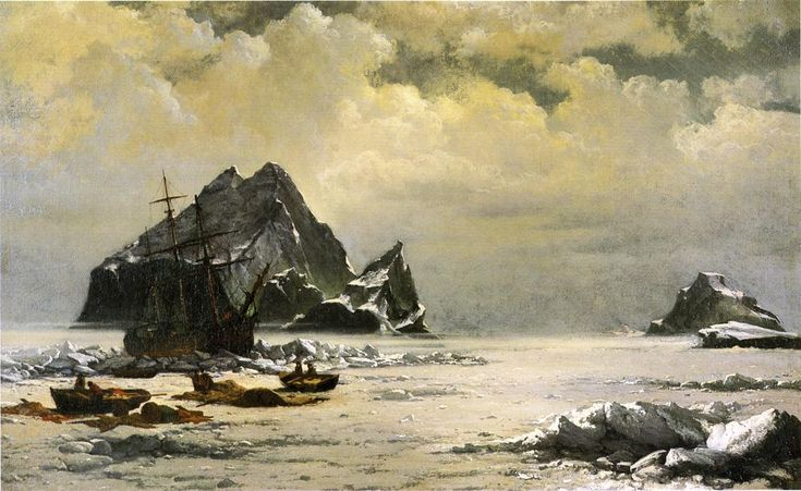 Morning on the Artic Ice Fields William Bradford (1880) Painting - oil on canvas