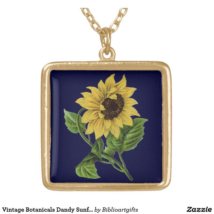 Vintage Botanicals Dandy Sunflower Gold Plated Necklace