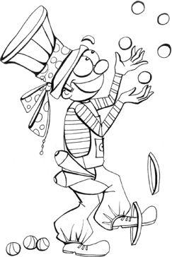 preschool coloring page juggler coloring sheet