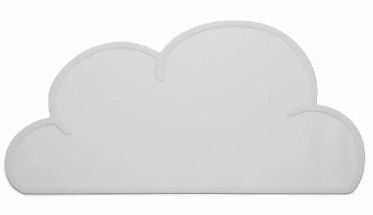 Dækkeserviet Sky, Grå - Praktisk dækkeserviet der skåner dit bord og hygger om dit barn