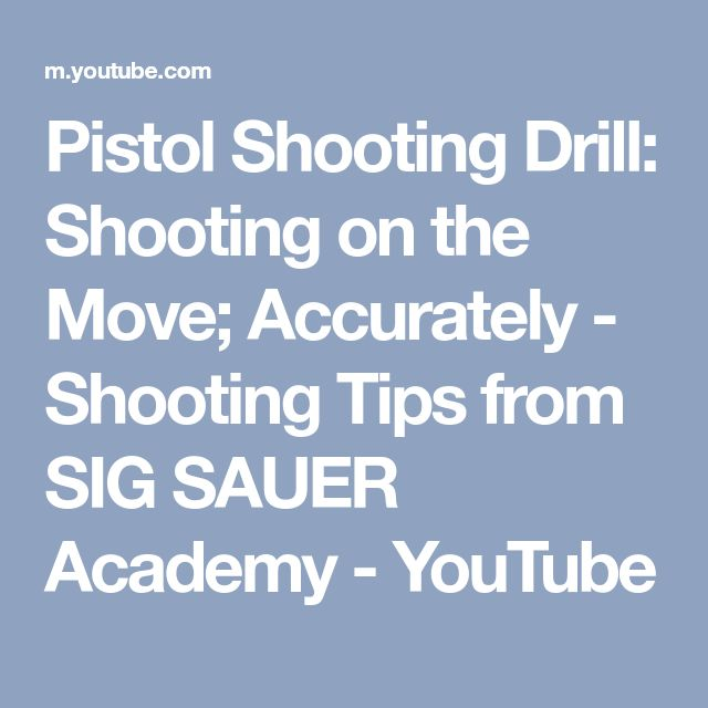Pistol Shooting Drill: Shooting on the Move; Accurately - Shooting Tips from SIG SAUER Academy - YouTube