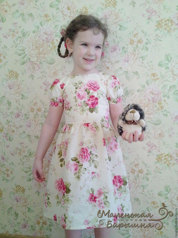 """Купить Платье """"Машенька"""" для девочки - фуксия, цветочный, Платье нарядное, платье летнее, платье для девочки"""