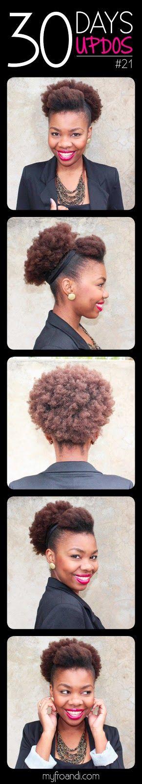 Topete em cabelo crespo