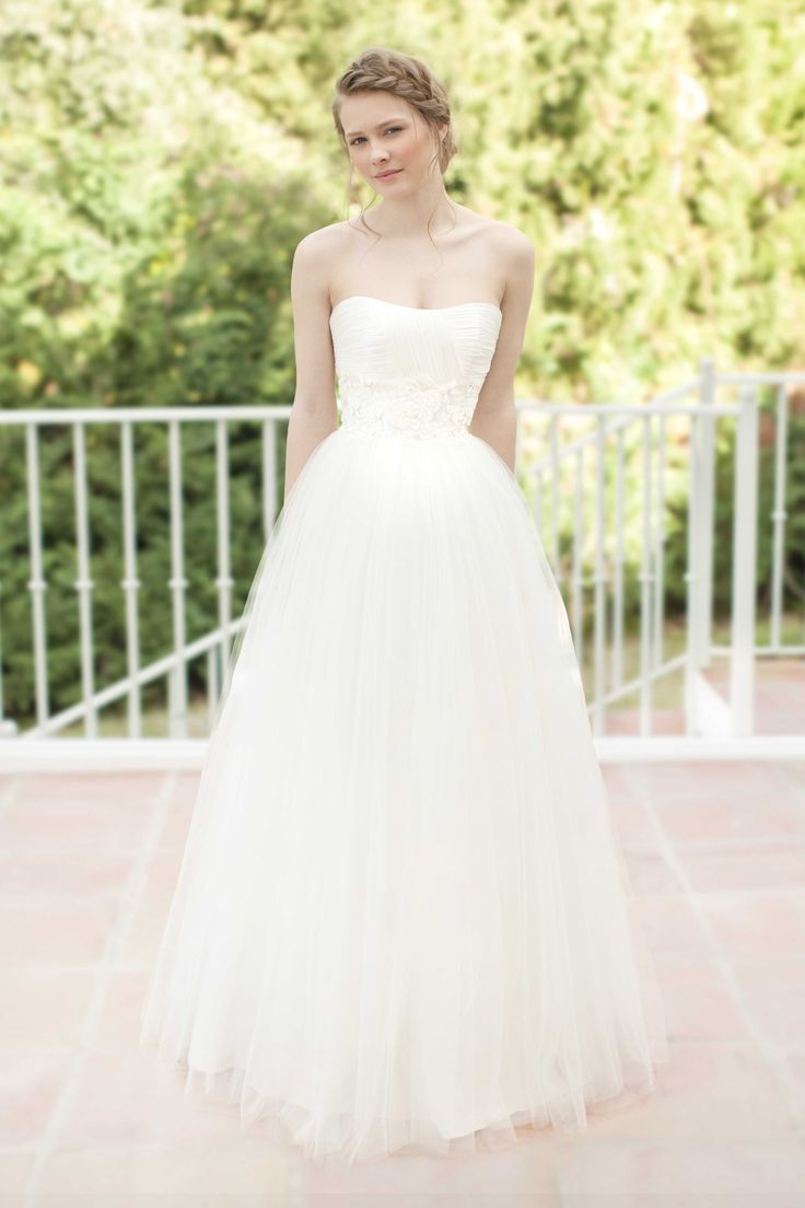 SADONI dress NIMA with draped silk tulle top, beaded lace waistline and voluminous tulle skirt