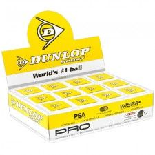 The Dunlop Pro Ball is the official ball of the World Squash Federation (WSF), Professional Squash Association (PSA), and Womens International Squash Players Association (WISPA) and the only ball used in all international squash competitions.  An extremely durable high quality rubber compound, unique to Dunlop comprises of 12 special ingredients that provides the ultimate performance squash ball for professional, tournament and team players.