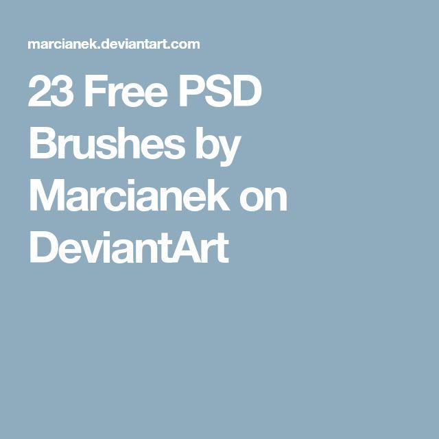 23 Free PSD Brushes by Marcianek on DeviantArt