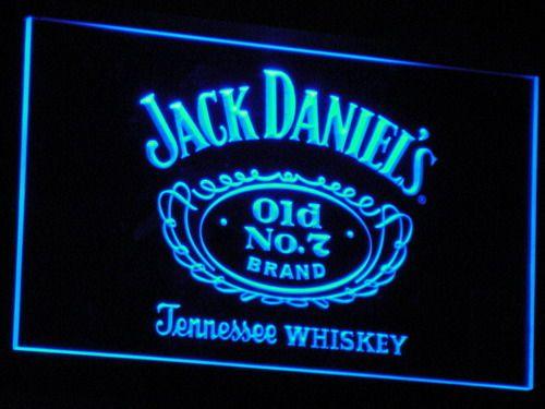 A048 Jack Daniel's Whiskey Bar Beer LED Neon Sign Plastic Ambachten 7 kleuren op/off Schakelaar