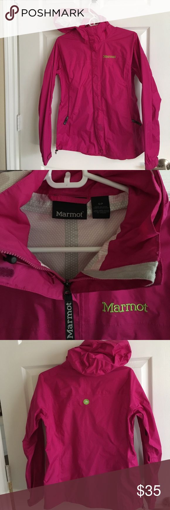 Marmot Minimalist PreCip rain jacket S Lightweight, waterproof, breathable and super durable Marmot PreCip jacket. Wear it on your next hike or just look cute in a rainstorm! Has pit zips and mesh pockets. Marmot Jackets & Coats Utility Jackets