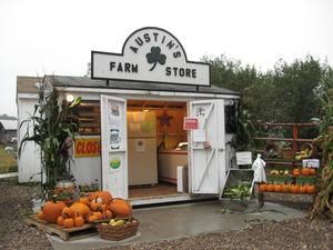 This tiny farm store appears to be run out of a small kit shed, making it super affordable for small family operations.