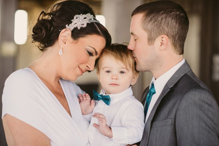 Aww Vow renewal must have pic. bride and groom with baby son