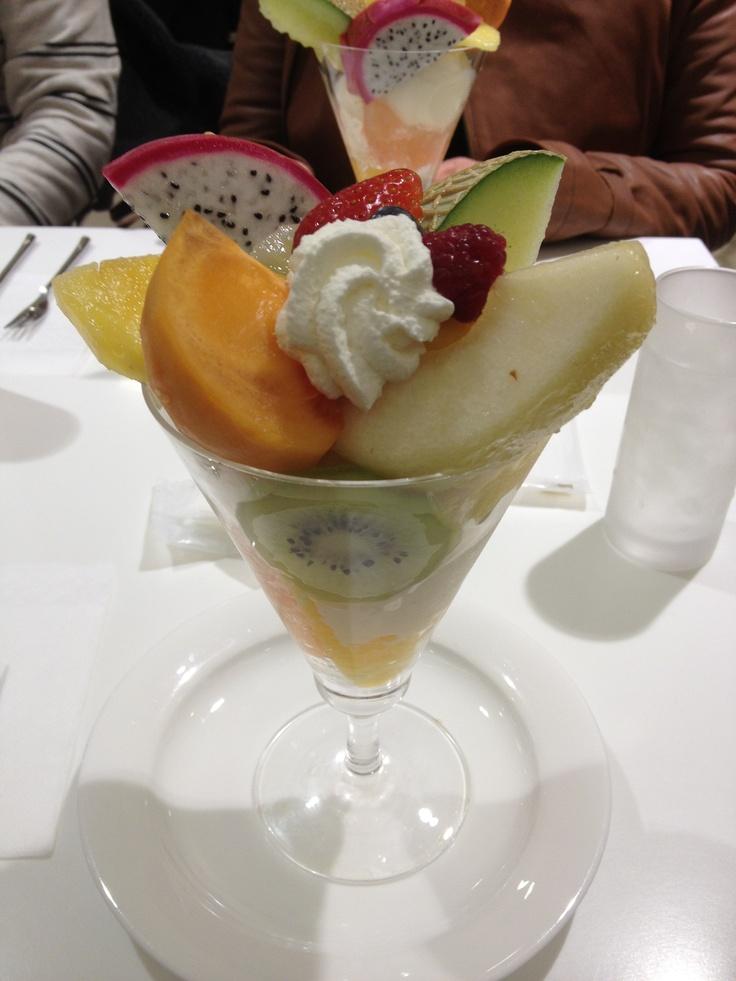 fruit parfait@Takano fruit parlor