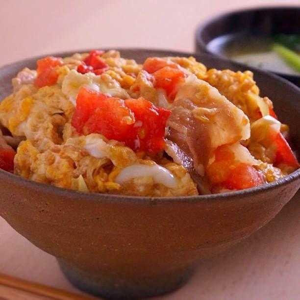 レシピ トマ卵丼