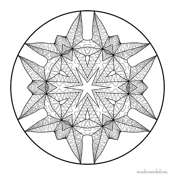 Mandala Stars Coloring Sheets 6 Free Printable With Intricate Star Designs Sutiable