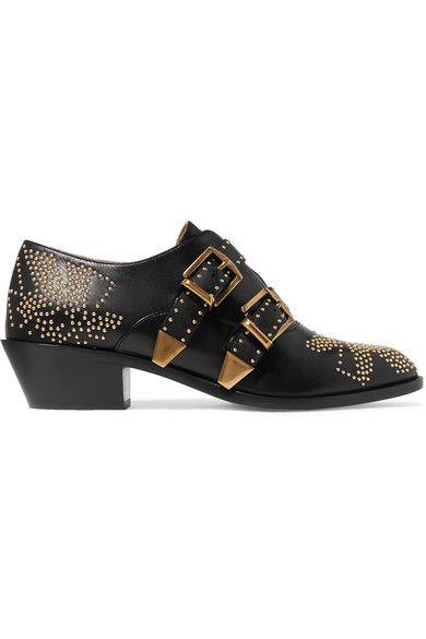 CHLOÉ Susanna studded leather ankle boots. #chloé #shoes #boots
