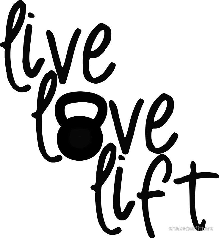 "Live, Love, Lift - Kettlebell"" Stickers by shakeoutfitters 