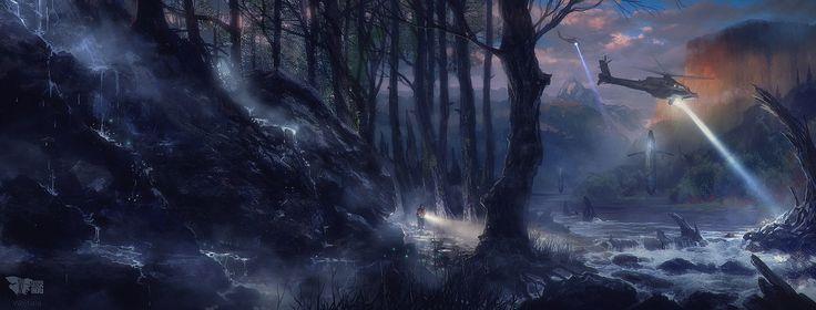 Night Search by M-Wojtala