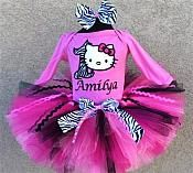 Girls+HBB+Hello+Kitty+Birthday+Pink+Zebra+Tutu+Set