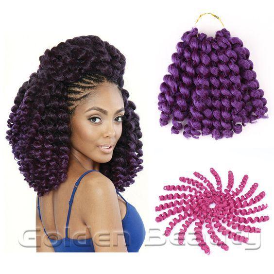 8inch jump wand curl crochet braids(5pakc full one head)