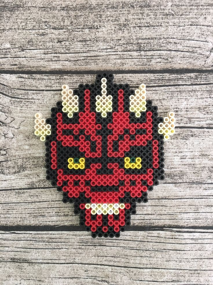 Darth Maul - Star Wars Perler Bead Magnet by Hollohandcrafted