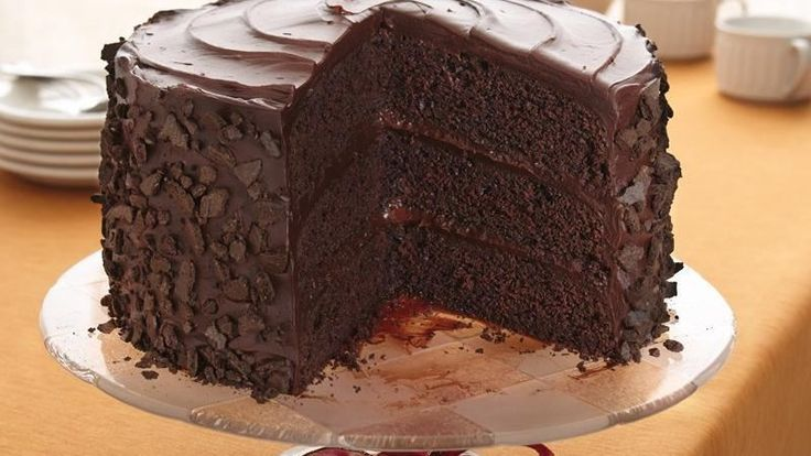 "Yummy Layered Cake Recipes: Check Out ""All-the-Stops"" Chocolate Cake. It's So Easy To"