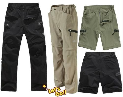 New Men Outdoorwear Male Waterproof Fast Drying Detachable Pants Spring Trousers - 38$