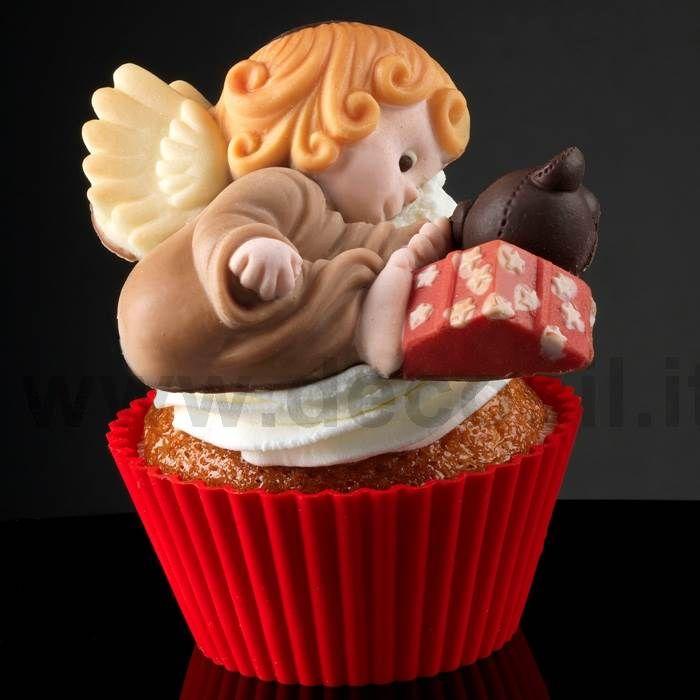 Stampi per cupcakes in silicone Angelo con Doni - Stampo Angelo con Doni
