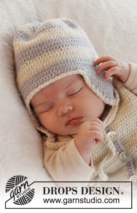 "Heartthrob Hat - Heklet DROPS lue i ""Alpaca"". Str 0 – 4 år - Gratis oppskrift by DROPS Design"