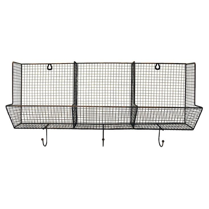 3 Piece Wire Basket with Hooks 12x24 Amy I'm gonna buy this and have it shipped to your house! For my coffee bar