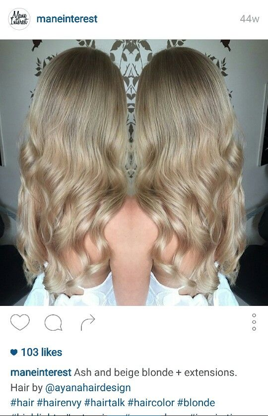 Gorgeous ash and beige blonde hair