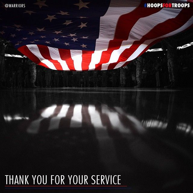 From everyone at the #Warriors, Happy #VeteransDay & Thank you to those who serve. #HoopsForTroops