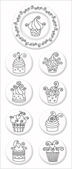 PSA Whimsical Cakes Peel & Stick® Interchangeable Stamp Collection - Expressionery