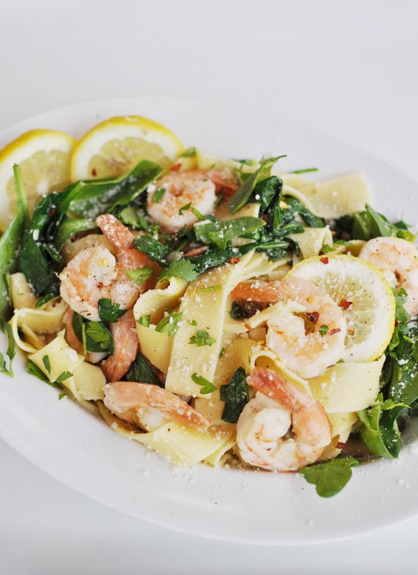 lemon shrimp-pasta- so quick easy and delicious! I made it with regular broad egg noodles, and no capers...great summer dish!