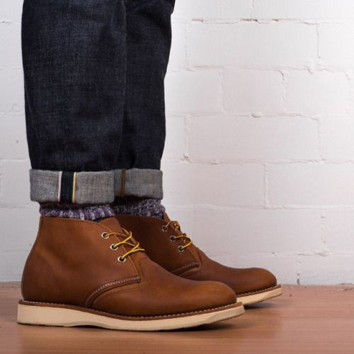 unionclothing:  Japan Blue 13.5 oz mixed cotton selvage jeans, Sock and Trotter socks and finished off with Red Wing Chukka Boots all available in store and online @unionclothing  #japanblue #sockandtrotter #redwing #Menswear