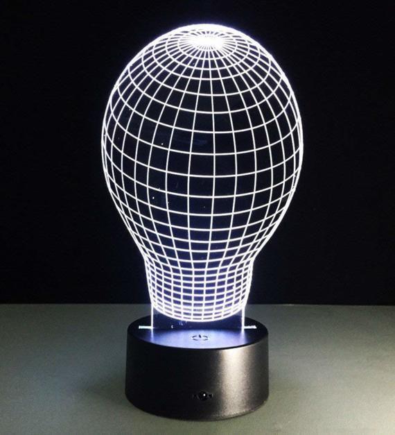 Light Bulb 3d Illusion Visual Lamps 7 Color Change Led Night Light In 2020 Lamp 3d Lamp Night Light