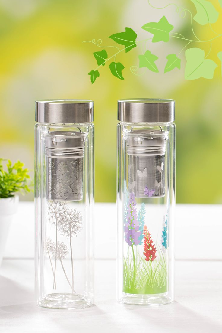 SPRING 2015 - Take your favourite tea on the go in style with these sleek and stylish glass travel mugs.