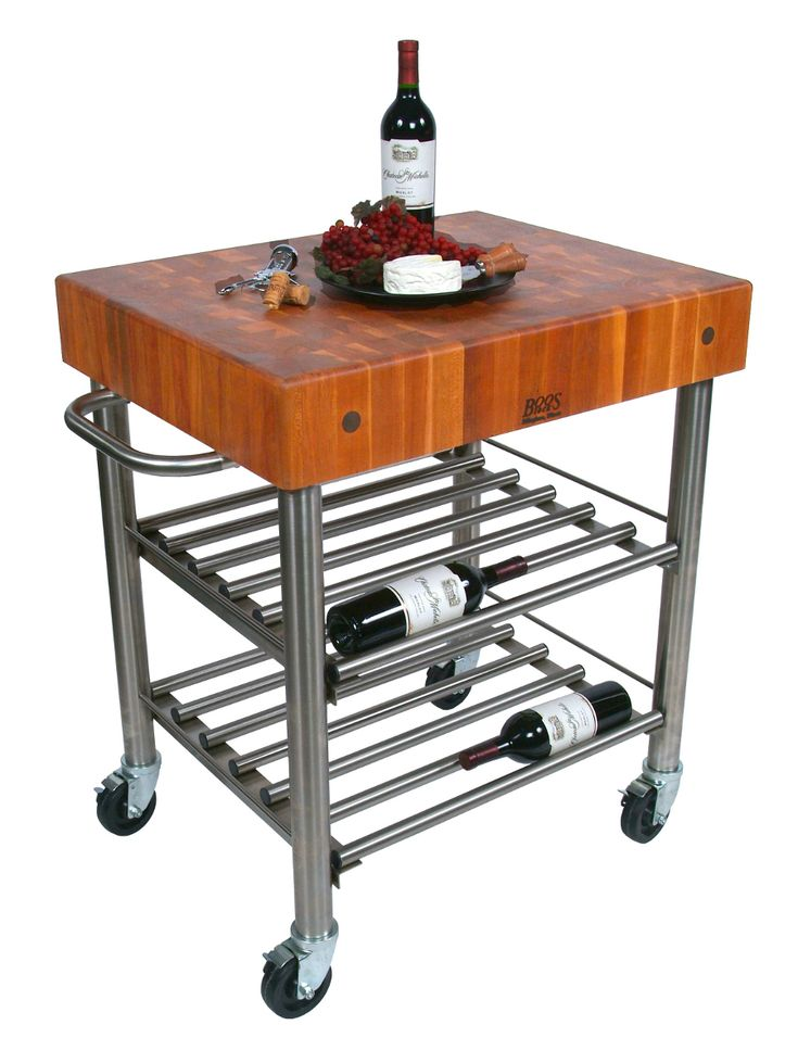 Cherry cucina d 39 amico wine cart 5 boos block on - D amico cucina ...