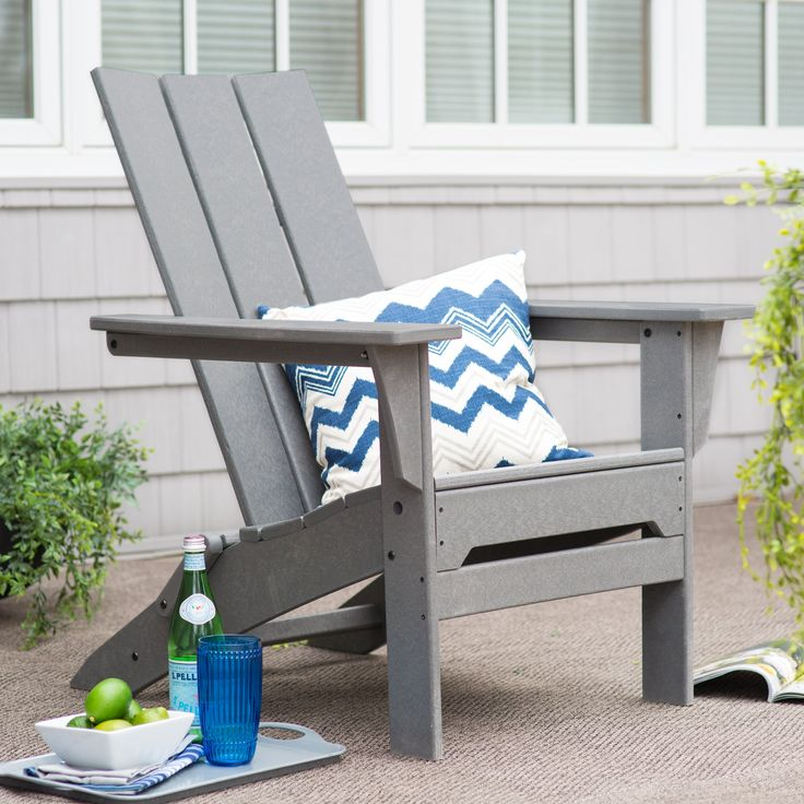 Have to have it. Exclusive! POLYWOOD® Modern Folding Adirondack Chair - $339 @hayneedle