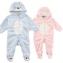 sonbahar kış sıcak uzun kollu mercan polar bebek bebek tulum karikatür kış kız bebek giysileri arabacılarla bebek giyim jy090(China (Mainland))