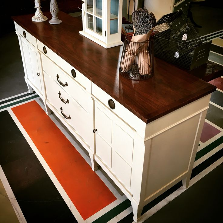 White Furniture Co. Buffet In Old Ochre Chalk Paint® By